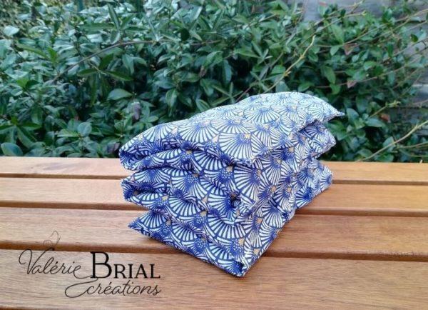 Bouillotte sèche aux graines de lin bio coquillages